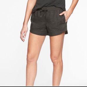 Athleta Charcoal Linen Shorts